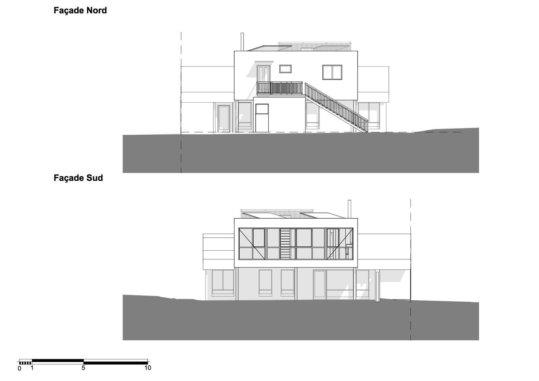 atelier nord atelier nord sur l vation d 39 une villa plan les ouates. Black Bedroom Furniture Sets. Home Design Ideas